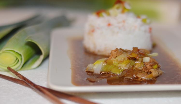 Rezept für Cola-Huhn mit Reis