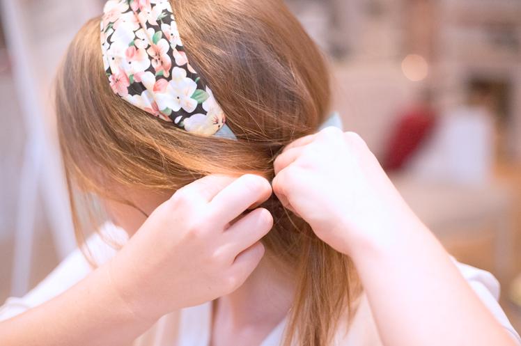 Frisuren mit breitem haarband