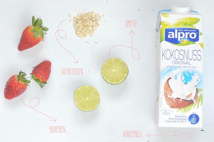 smoothie-zutaten-erdbeer-kokos-vegan