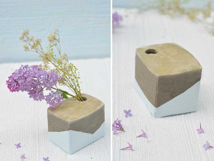Do It Yourself: Vase Aus Beton Basteln