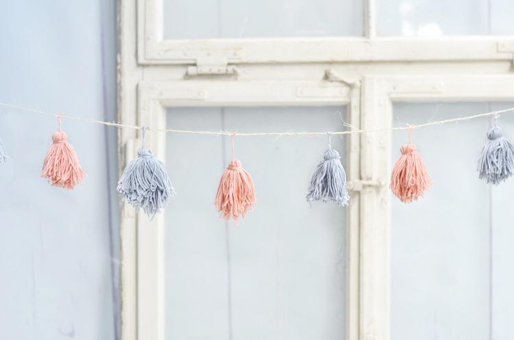 Do It Yourself Tassel Girlande Aus Wolle Basteln Bonny Und Kleid