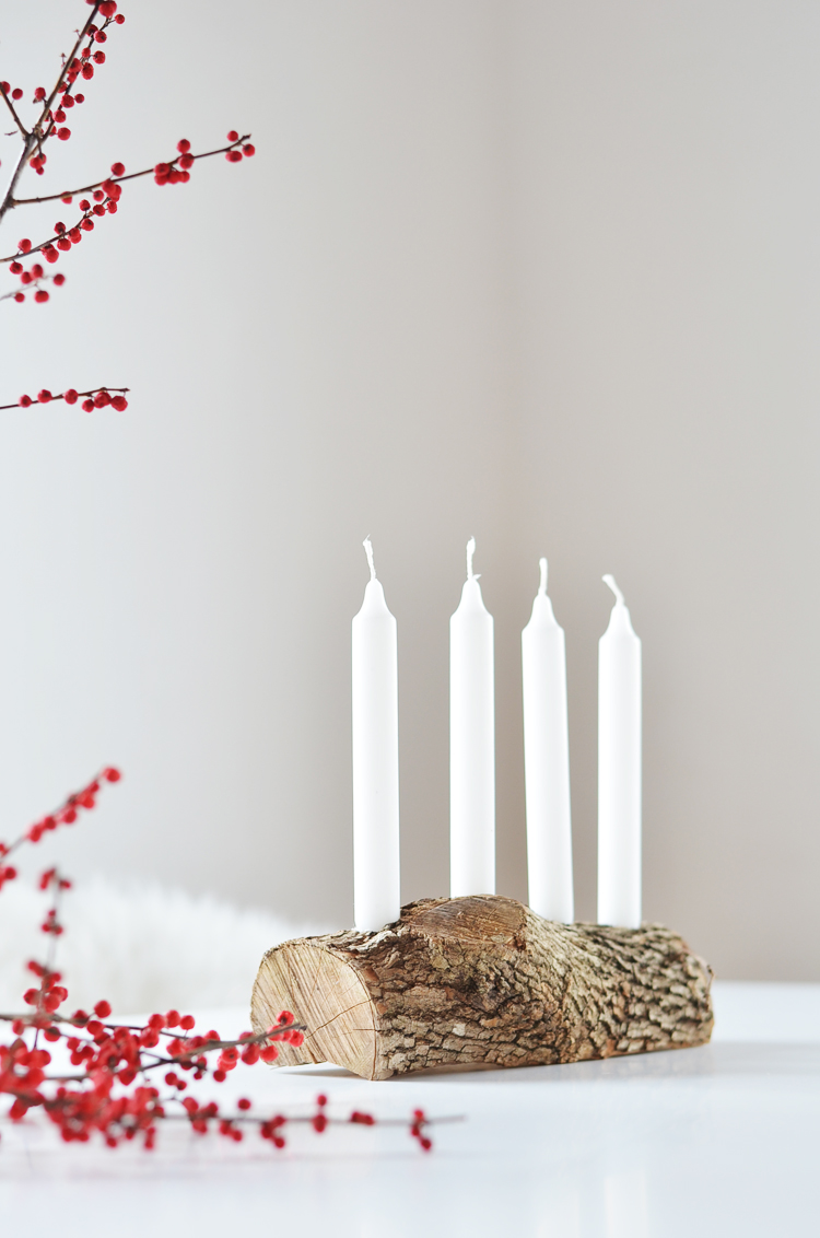 do it yourself schlichter adventskranz aus holz bonny. Black Bedroom Furniture Sets. Home Design Ideas