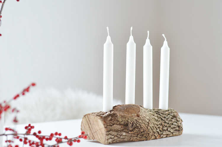 Do It Yourself Schlichter Adventskranz Aus Holz Bonny