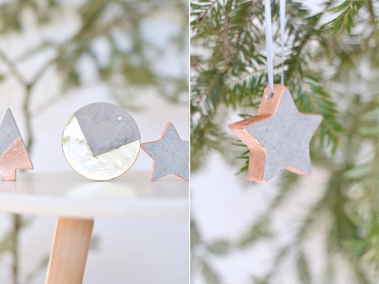 Do it yourself christbaumschmuck aus beton bonny und kleid - Beton weihnachtsdeko ...