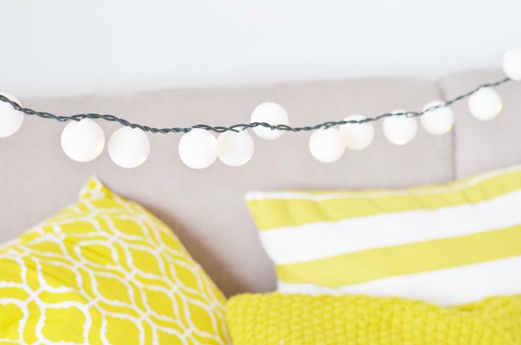 Lampion-Lichterkette  aus Tischtennisbällen