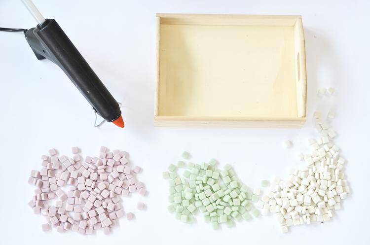 DIY: Mosaik Tablett selber machen