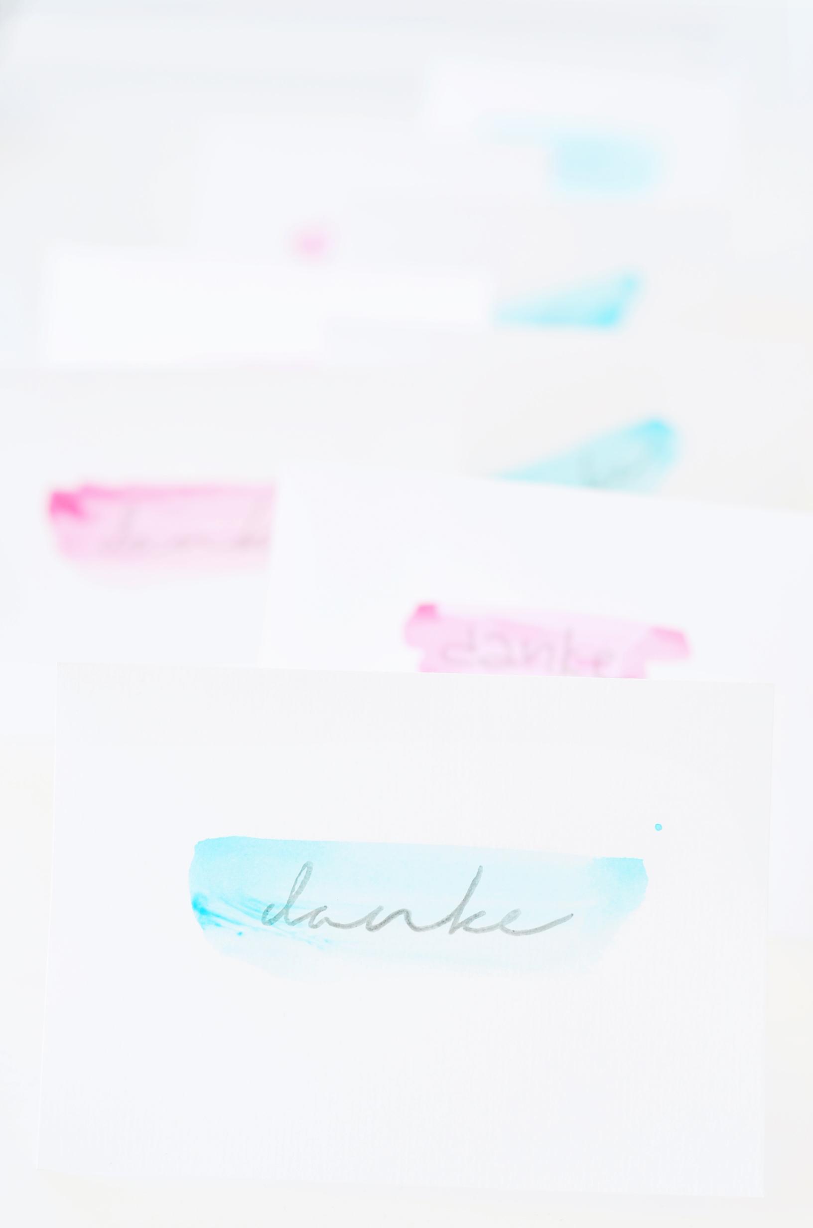 Dankeskarten selbst gestalten