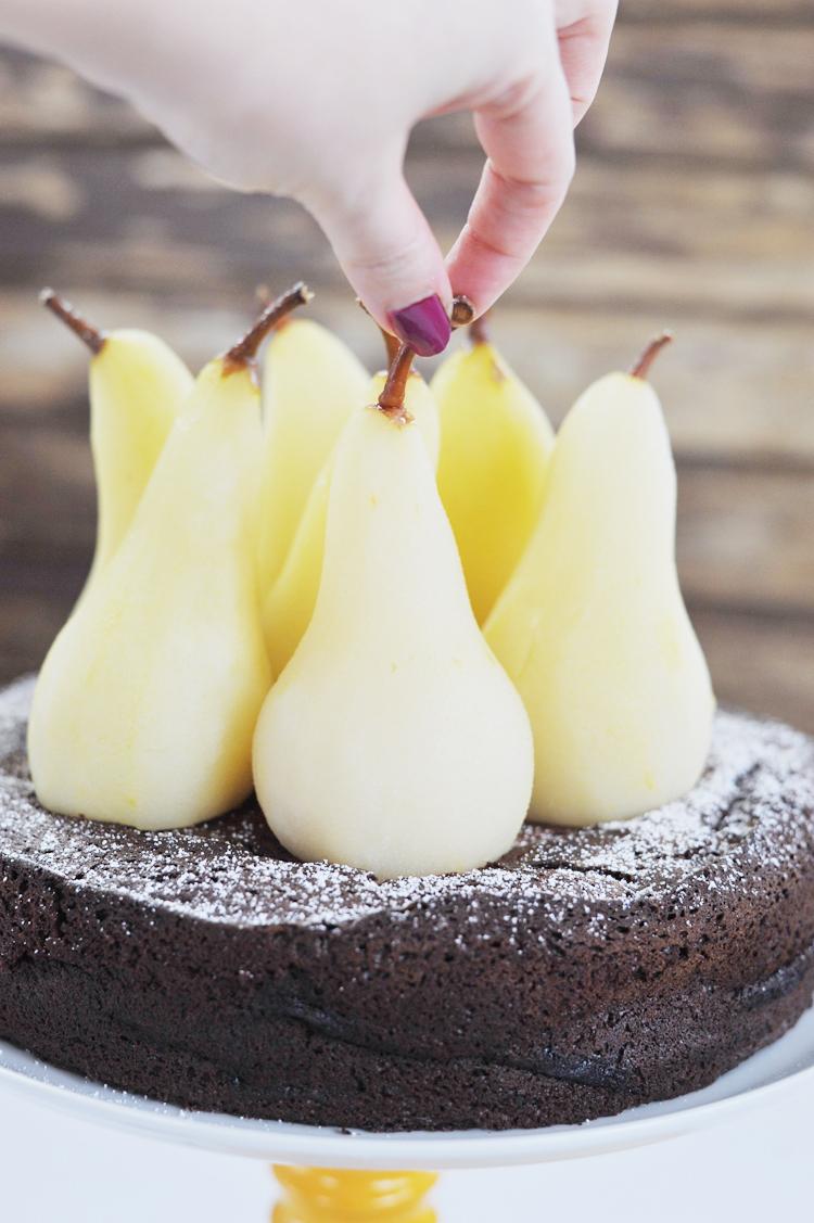 Rezept für Schoko Birnen Kuchen