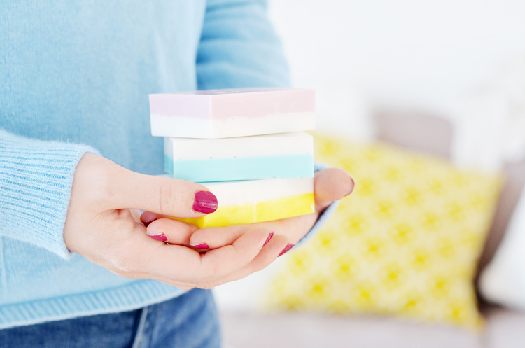DIY: Colour Blocking Seife selber machen