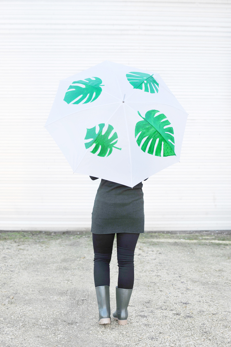 DIY: Monstera Schirm