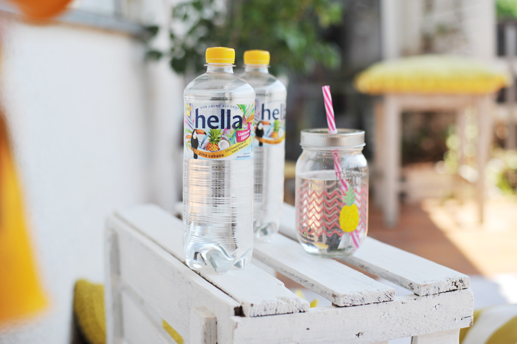 DIY-Idee für eine tropische Balkonparty