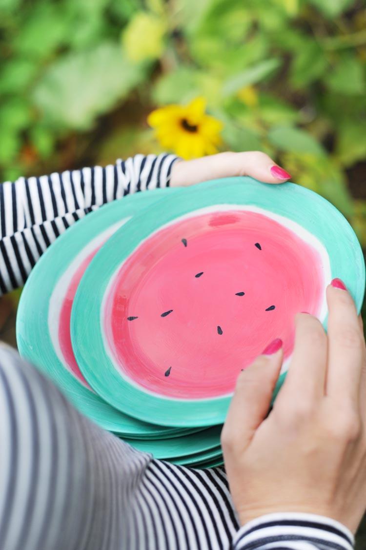DIY: Handbemaltes Wassermelonen Geschirr