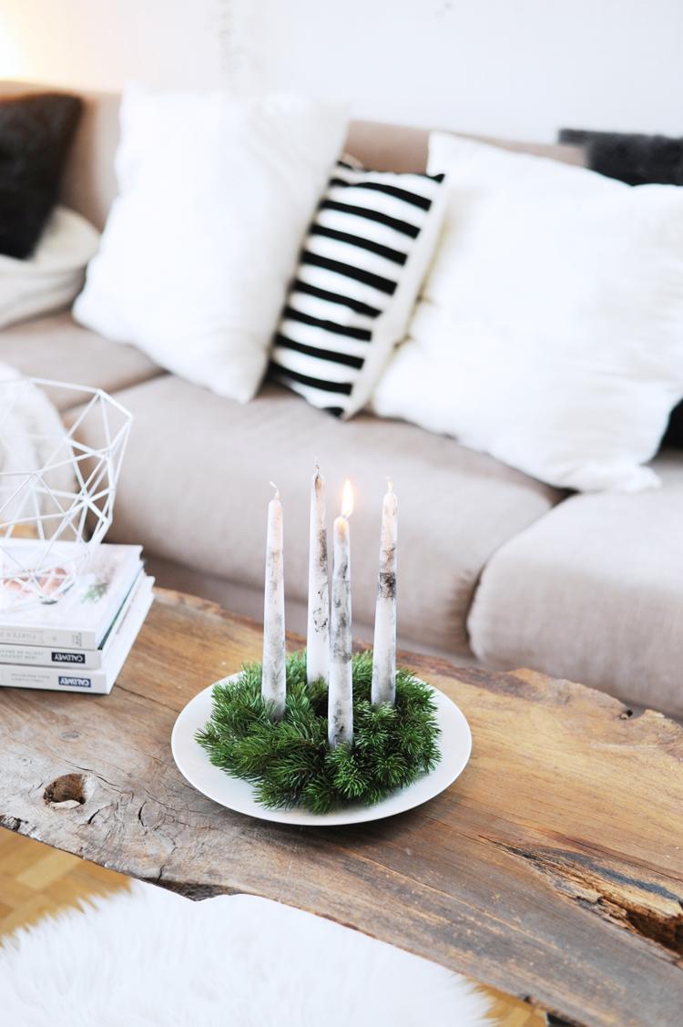 DIY: Einfacher Adventskranz für Eilige