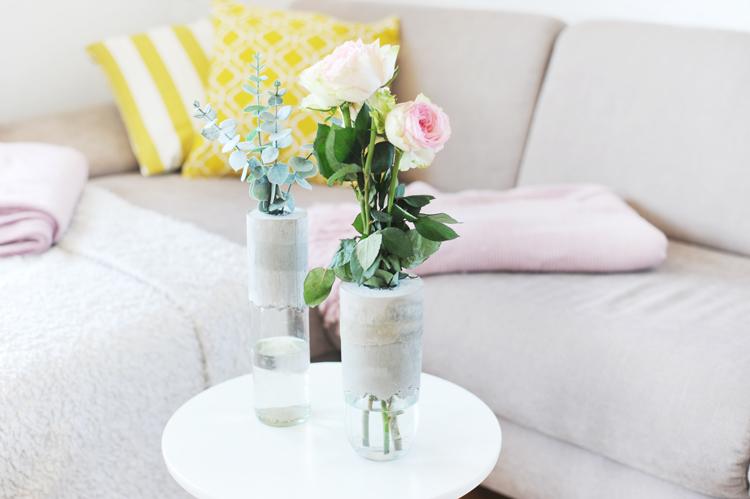 DIY: Schicke Betonvasen selbst machen