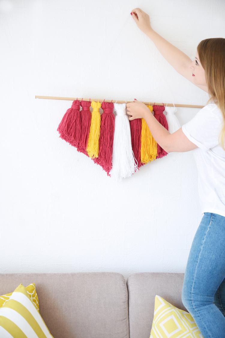 Wanddeko zum Selbermachen: Wall Hanging mit Wolle