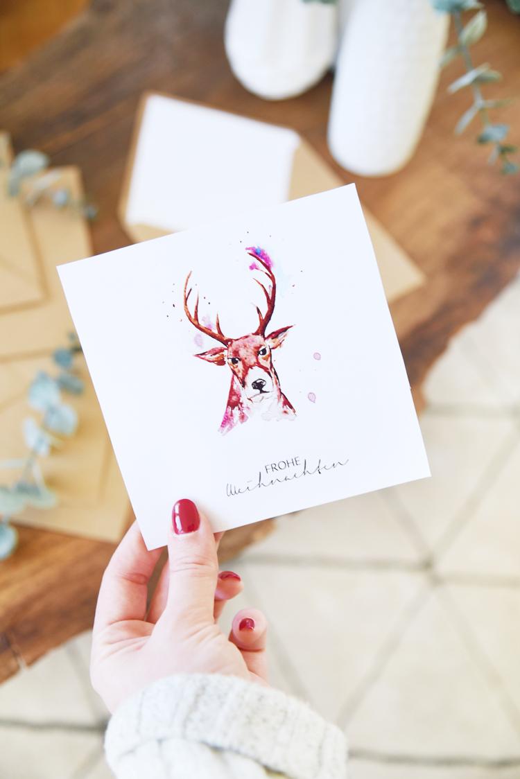 aquarell weihnachtskarten drucken vorlage gratis kopie. Black Bedroom Furniture Sets. Home Design Ideas