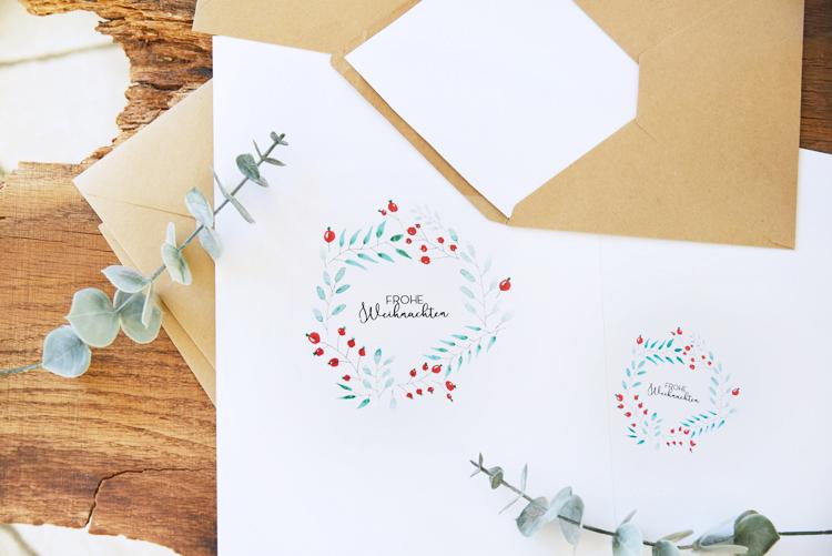 Weihnachtskarten Selbst Gestalten Foto.Aquarell Weihnachtskarten Selbst Gestalten Gratis Printable