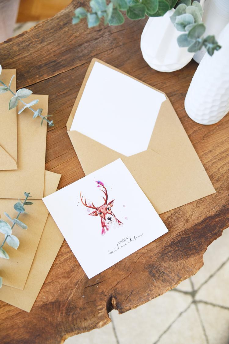 Weihnachtskarten Zum Selber Drucken.Weihnachtskarten Zum Selber Drucken Aquarell Printable Kopie Bonny