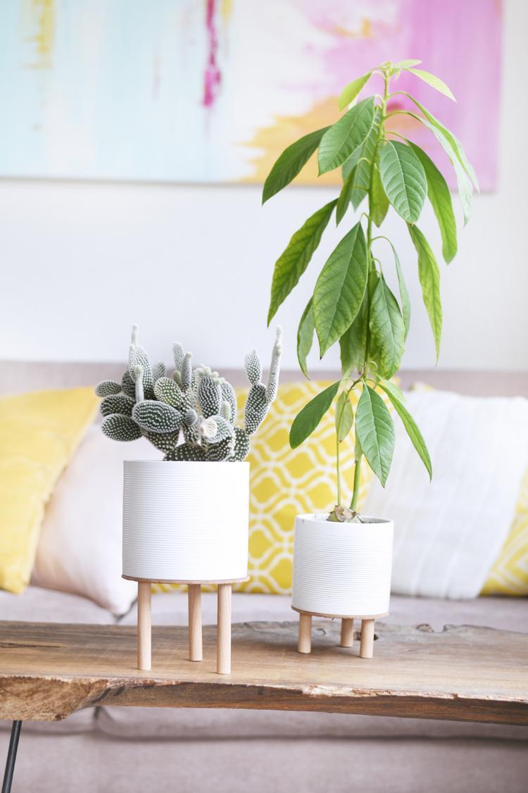 DIY: Pflanzenständer aus Holz selber machen