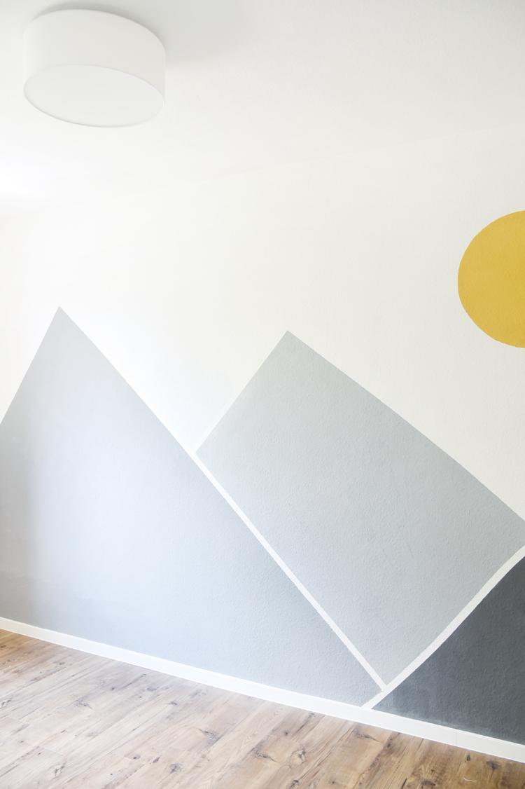 Kinderzimmer Wandgestaltung – Ideen in Gelb und Grau