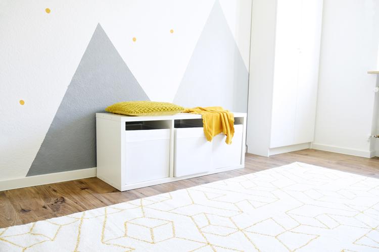 Kinderzimmer Wandgestaltung - Ideen in Gelb und Grau – Bonny ...