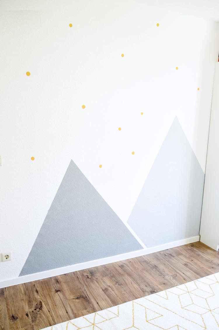 Kinderzimmer Wandgestaltung Ideen In Gelb Und Grau Bonny