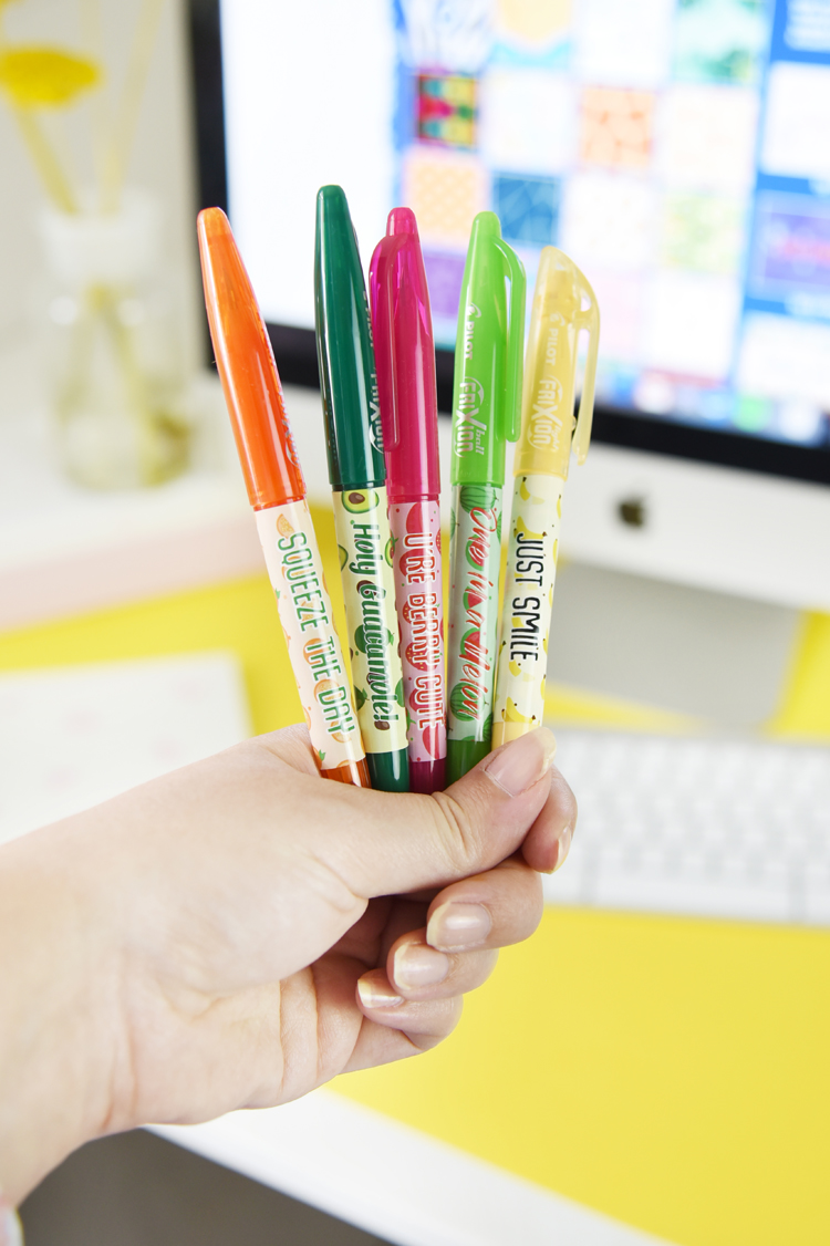 Fruchtiges Schreibtisch-Makeover mit den Pilot FriXion-Stiften + Gewinnspiel