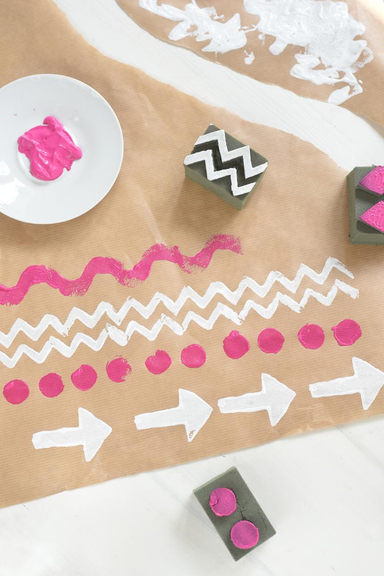 Muster-Stempel ganz einfach selber machen aus Steckmoos