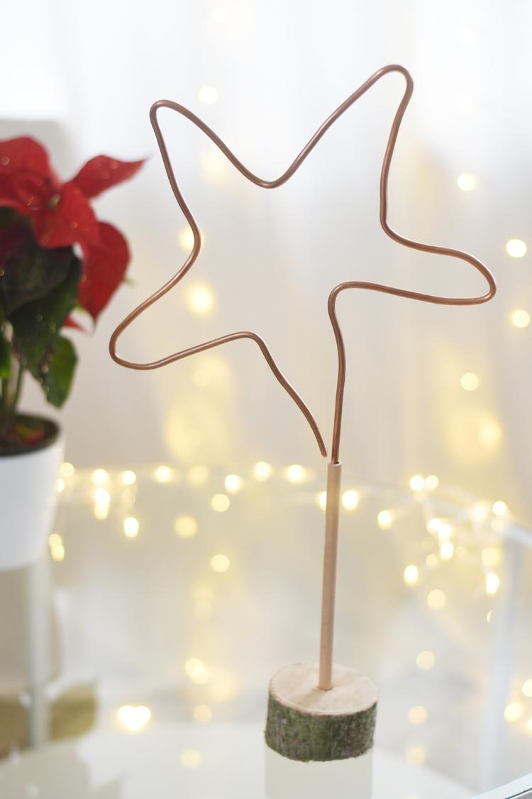 Kupferrohr DIY: Weihnachtlichen Stern basteln