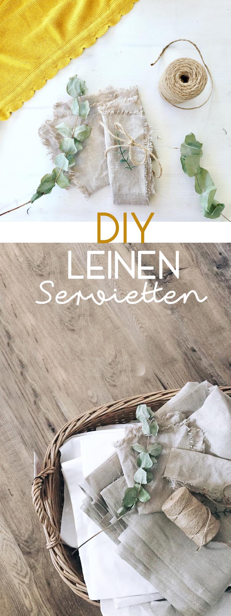Leinenservietten selber machen - DIY aus Ikea-Stoff-aina-ohne-naehen